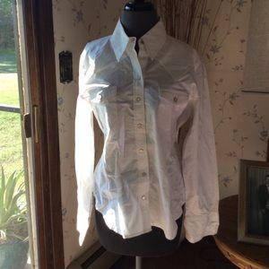 GAP white button down shirt.